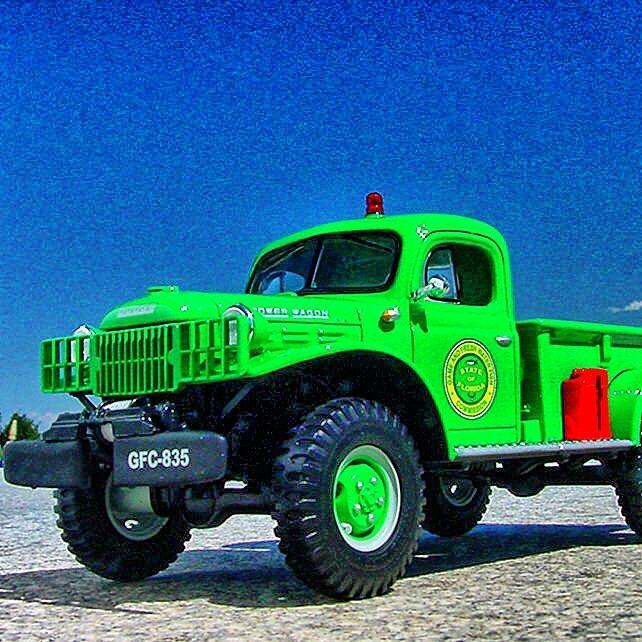 Très rare-Floride Alligator Trappeur 1949 Dodge Power Wagon-FIRST GEAR
