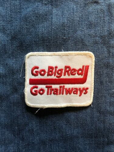 "Vintage NOS Continental Trailways Transportation Bus Line /""Go Big Red/"" Patch"
