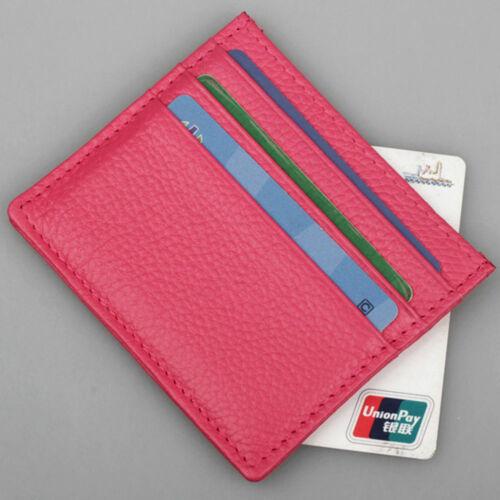 Luxury Men Slim Wallet Money Clip Business PU Leather Cash ID Credit Card Holder