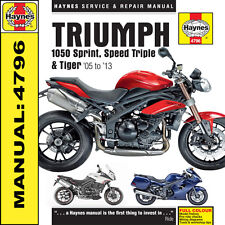 Triumph 1050 Speed Triple R Tiger se Sport 2005-2013 Haynes Manual 4796 Nuevo
