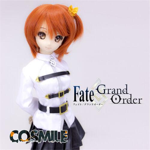 Fate Grand Order FGO Fujimaru Gudako Cosplay Wig Costume for Doll BJD Clothing