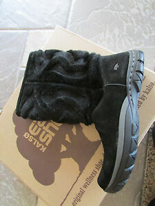 4d03206ba11 Details about NEW KALSO EARTH SUPERNOVA BLACK SUEDE MID BOOTS WOMENS 5 FREE  SHIP