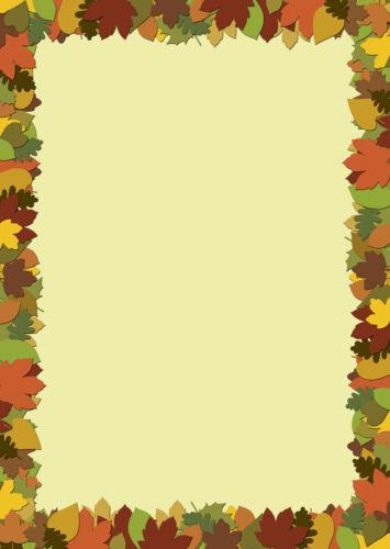Motivpapier Briefpapier buntes Herbstlaub  50 Blatt DIN A4  Herbstblätter Herbst