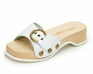275-Marc-Jacobs-Anita-Womens-Leather-Clog-Slide-Sandal-Mules-White-Size-37-US-7