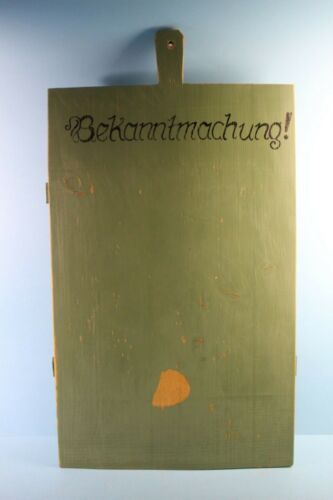 ALTES HOLZBRETT DEKORATION BEKANNTMACHUNG NR 58