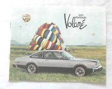 1977 PLYMOUTH VOLARE DEALER CATALOG BOOK MOPAR ROADRUNNER