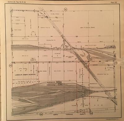 GEOGRAPHY MAP ILLUSTRATED ANTIQUE JOHNSON KANSAS MISSOURI POSTER PRINT BB4340A