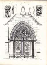 Gothic Marburg St Elizabeth West Doorway Sections Details Of Foliage