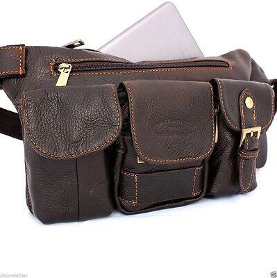 Genuine Leather wallet Bag mens Pocket Pouch for i pad air mini 4 backpack belt