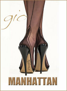 9eccef770 Image is loading Gio-Fully-Fashioned-Stockings-MANHATTAN-Heel -Imperfects-NYLONZ