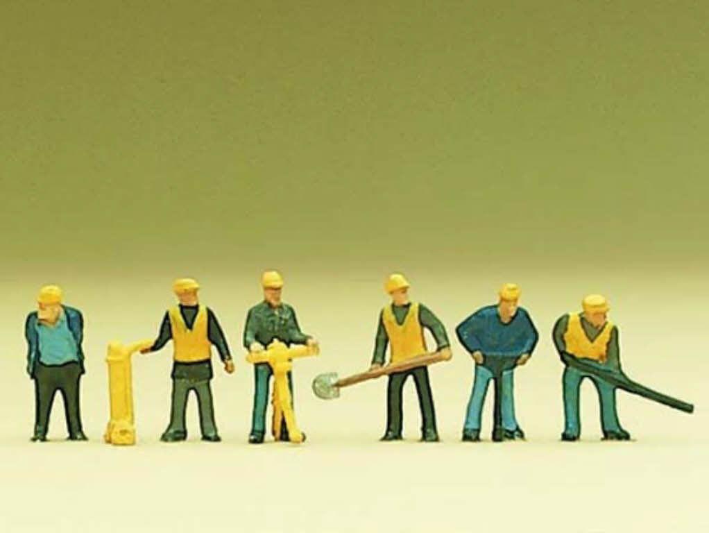 Preiser Preiser Preiser 88513 gleisbautrupp 6 figuras trabajadores gleisbau Z nuevo 5654ea