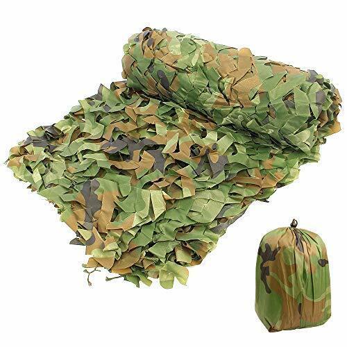 Camo Netting Camouflage Net Bulk Roll 1.5 x 3 M//4.92 x 9.84 FT Woodland