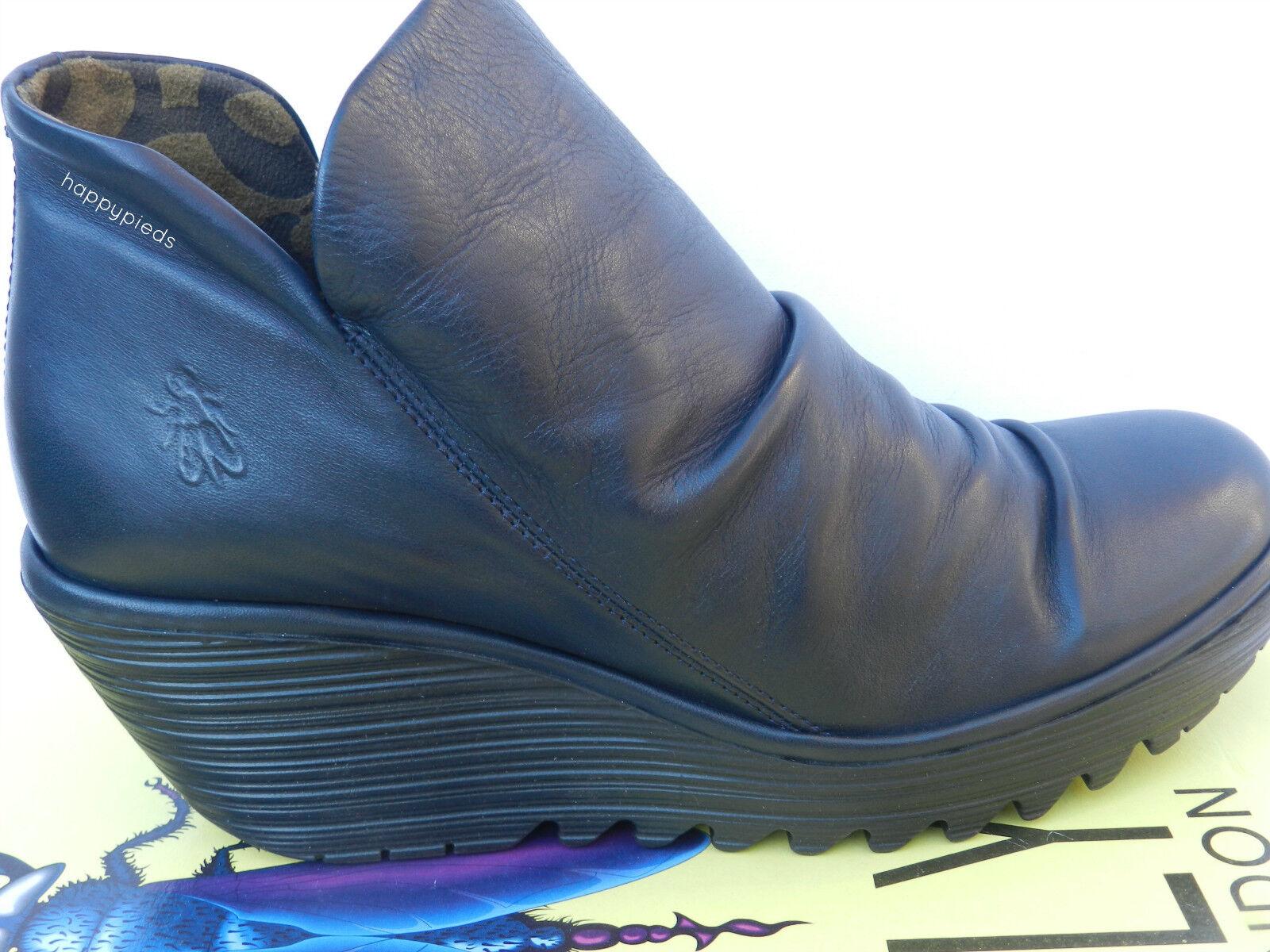 Fly London Yip shoes Femme 40 Bottines Compensé Montantes Bottes UK7 Neuf