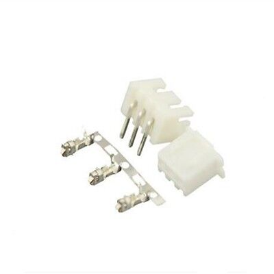 100sets 3Pin Right Angle Connector Leads Header 2.54mm XH-3P Kit Housing Pin