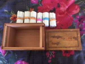 Vintage Japanese Puzzle Box and Mahjong Counting Sticks