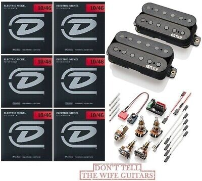 EMG 81 FENDER 18FT 60 CHROME ACTIVE HUMBUCKER PICKUP SET SHORT SHAFT POTS