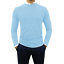 Maglione-uomo-Girocollo-Casual-slim-fit-Maglioncino-Cashmere-Blu-Nero-Verde-Blu miniatura 42