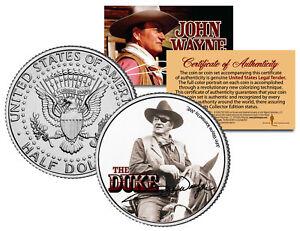JOHN-WAYNE-THE-DUKE-True-Grit-JFK-Kennedy-Half-Dollar-US-Coin-LICENSED