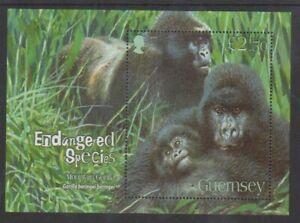 Guernesey-2007-Mountain-Gorilla-Feuille-MNH-Sg-MS1173
