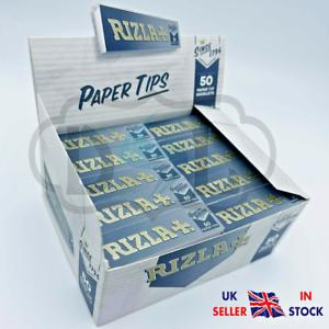 Genuine RIZLA SILVER Rolling Paper Card Roach Cigarette Filter Tips Booklets