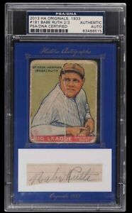 1933 Goudey Babe Ruth #181, '13 Historical Originals Signed AUTO, PSA/DNA CUT