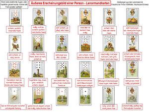 Ausseres-Erscheinungsbild-Lenormandkarten-Lerntafel-Wahrsagen-Karten-legen