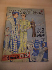 OLD VINTAGE WELDONS LADIES JOURNAL MAGAZINE 1930S FASHION KNITTING WOMENS BOOK