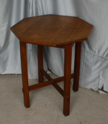 Antique Mission Oak Lamp Table