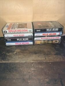 8 Willie Nelson -Cassettes Tapes- Clean Shirt, Island In The Sea,20 Golden Hits