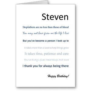 Image Is Loading Personalised Typographic Step Father Dad 034 No