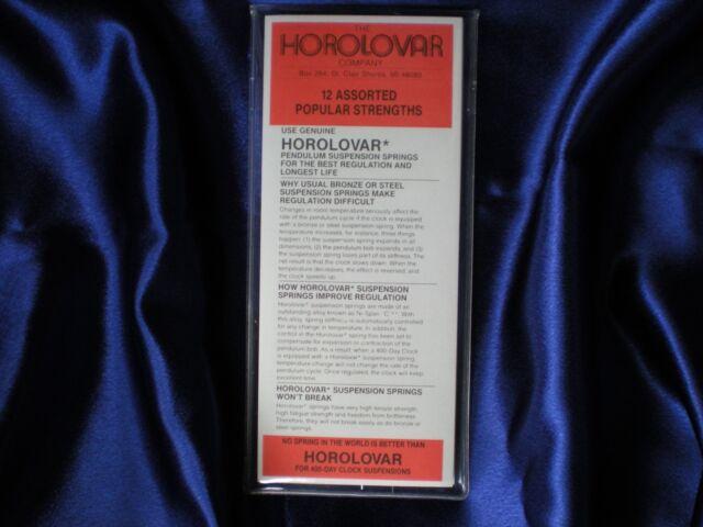 Horolovar 400 Day / Anniversary Clock Suspension Springs - Popular Assortment
