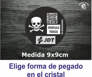 Pegatina-Vinilo-Sticker-Decal-Distintivo-Ambiental-Coche-Vehiculo-Toxico-DGT-JDT