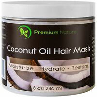 Coconut Oil Hair Mask Conditioner - 8 Oz 100% Natural Deep Leave In Condition...