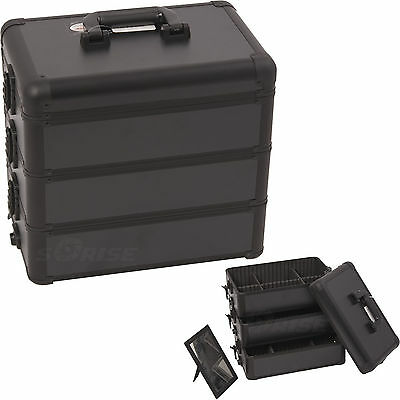 Makeup Train Case 3 Stackable Box Divider Artist Storage Organizer Sunrise NIB