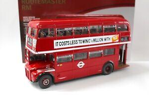 1:24 SunStar 1983 Routemaster RM London Bus GLC Years red