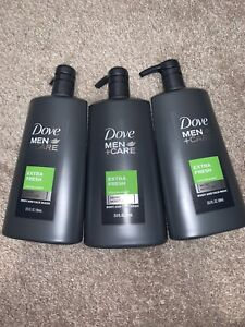 Dove Men Care Body Face Wash Extra Fresh 23 5 Oz 3 Pack Pump Shower Wash Ebay