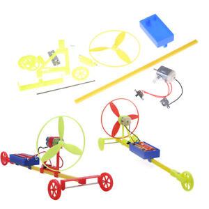 Science-educational-experiment-toy-DIY-Racing-car-F1-Air-power-handmade-wind-IY
