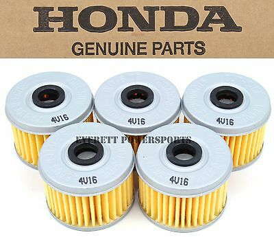 New Genuine Honda HM5 Oil Filter 5 Pack Many TRX SXS 300-500 OEM See Notes #S145