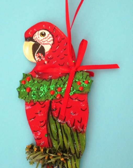 Parrot Christmas Ornament Scarlet Military Green-winged Blue /& Gold Macaw B/&G