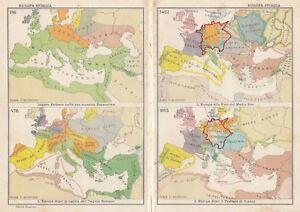 Immagini Cartina Geografica Europa.C2916 Europa Storica Carta Geografica D Epoca 1936 Vintage Map Ebay