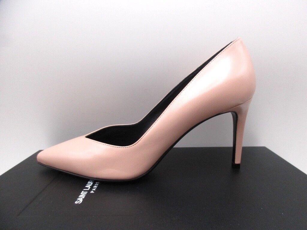 YSL Yves Saint Laurent Paris 80 Pale Pink Pumps Shoes 38.5 8.5