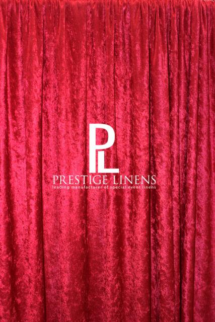 PANNE VELVET CRUSH VELOUR CURTAIN 8ft DRAPE PANEL BACKDROP 96 X 60 RED