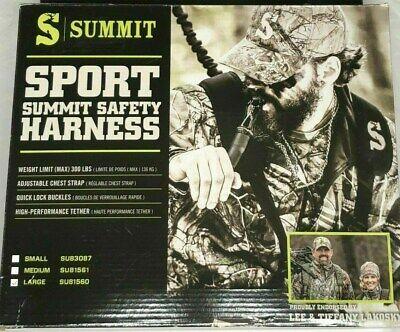 LARGE SUMMIT SPORT HUNTER SAFETY HARNESS//FALL ARREST SYSTEM TREESTAND DEER HUNT