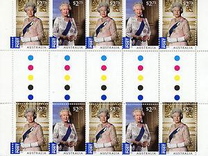 Australia-2015-MNH-Queen-Elizabeth-II-Long-Reign-10v-Int-Values-Gutter-Pair