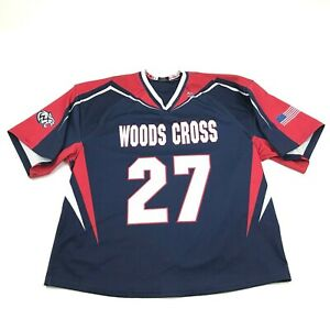 NEW VINTAGE Woods Cross Wildcats Football Jersey Size Large Utah High School Vee