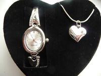 Identity London Heart Diamond Watch & Necklace