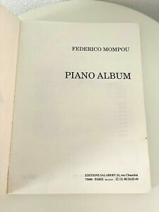 cheap deals outlet Piano Album Book by Federico Mompou French ...