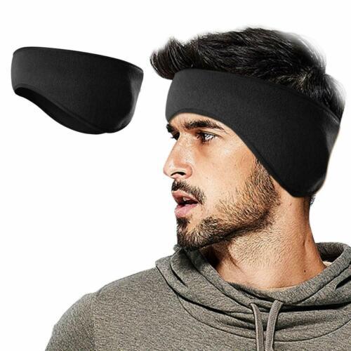 Men Women Black Winter Fleece Ear Warmers Headband For Cold Weather Ear Muffs