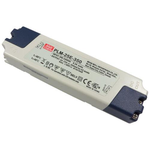 Meanwell plm-25e-350 25w LED-conmutador 42v-72v 350ma constante electricidad 856528