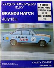 BRANDS HATCH 13th Jul 1975 Lord Taverners Day Motor Racing Official Programme